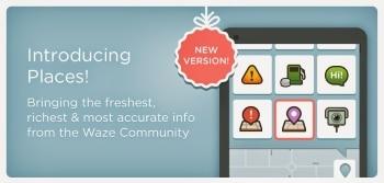 Waze עודכנה לגרסה 3.9 ונוספה אפשרות חדשה של מקומות