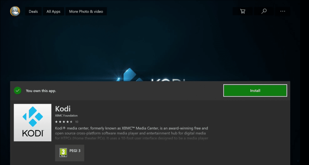 Kodi for Xbox One